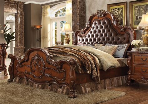 cherry oak bedroom set 4 piece dresden cherry oak tufted bedroom set usa