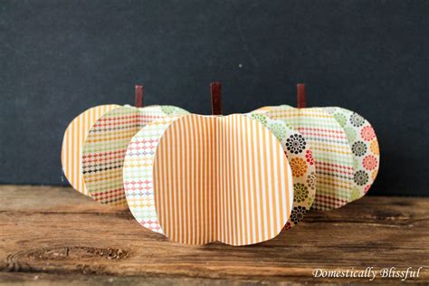 How To Make 3d Pumpkin Out Of Paper - diy paper pumpkins the fall project