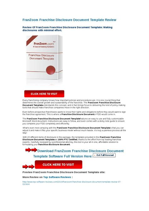 Franzoom Franchise Disclosure Document Template Review By Yongqiang Xie Issuu Franchise Fdd Template