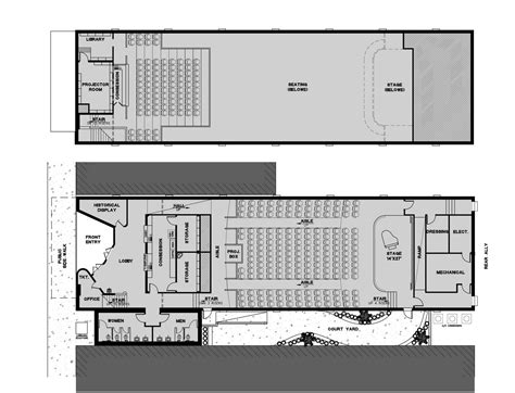movie floor plans mata garcia architects sketchbook grande theater a