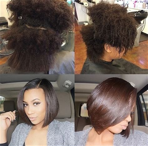 Growing A Natural Bob Haircut | how to achieve the perfect silk press voice of hair