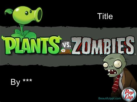 zombie powerpoint themes free powerpoint template plants vs zombies