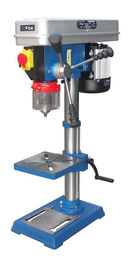 fox woodworking machinery drill presses drill press bench model chuck 16 mm and
