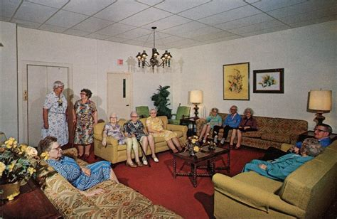 nursing home postcards waiting for god in mid century