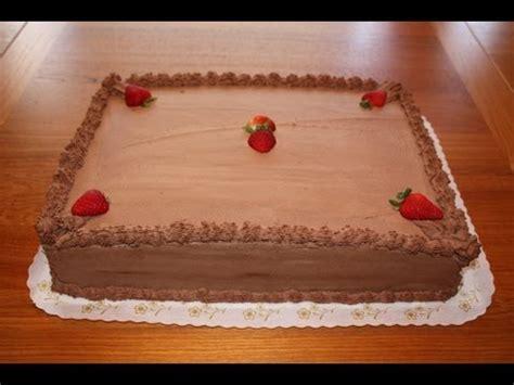 chocolate half sheet cake decoration