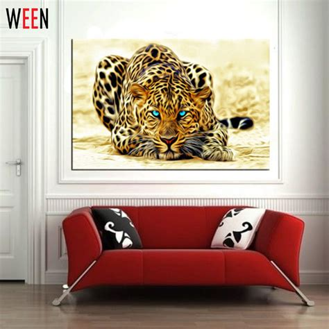 5 plane abstract leopards modern home decor wall art aliexpress com buy modern diy painting by numbers