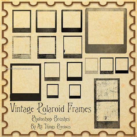 vintage frame templates for photoshop vintage polaroid frames template adobe photoshop brushes
