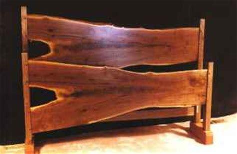 log headboard and footboard rustic walnut slab log bed by dumond s custom unique