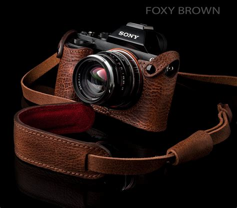 Half Halfcase Leather Sony A7 A7r A7s Warna Coffee sony a7r a7 half handstitched angelo pelle