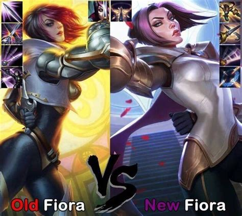 s fiora fiora vs new fiora league of legends official amino