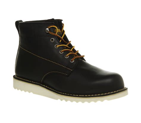 mens wolverine rory toe boot black leather boots ebay