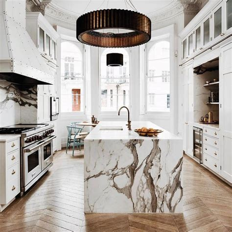 white marble kitchen island marble island interior inspo marble island marbles and waterfall countertop
