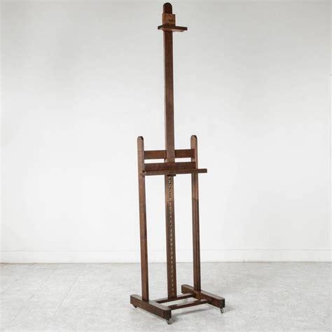 Easel Floor L 19th Century Solid Oak Artist S Floor Easel Adjustable At 1stdibs