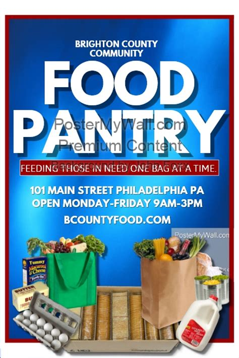 Food Pantry Flyer by Food Pantry Template Postermywall