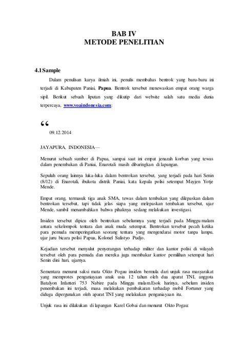 membuat makalah tentang nkri makalah penelitian dak konflik papua terhadap