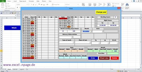 how to make a calendar using excel 4 create time tracking application in excel itself create