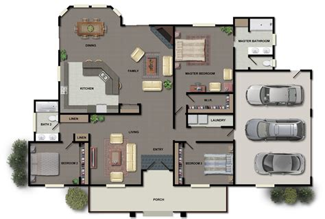 architectural floor plan illustrations