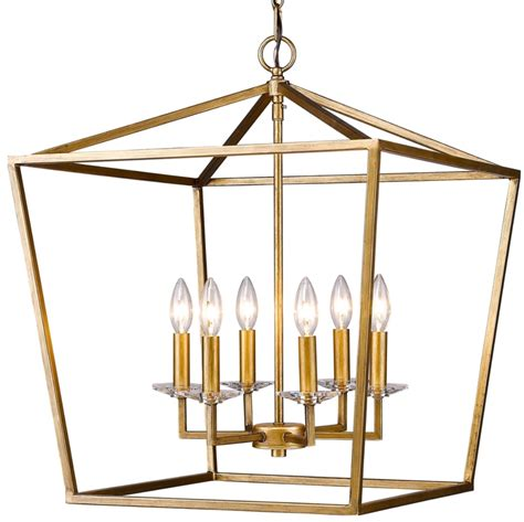 Chandeliers For Foyer Kennedy Antique Gold Lantern Pendant Light 20 Quot Wx24 Quot H