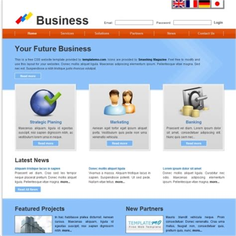 free html product page template business free website templates in css html js format