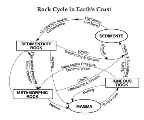 Rock Cycle Worksheet by Rocks And Minerals