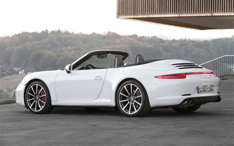 porsche white convertible 2013 porsche 911 carrera 4s cabriolet white rear three
