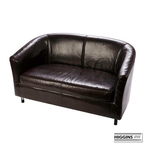 two seater tub sofa tub sofa brown 2 seater higgins ie