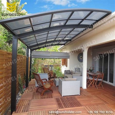 aluminum and polycarbonate patio cover polycarboante patio cover aluminum patio awning sunshield