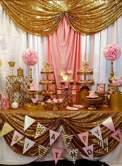 Rose gold party decorations fresh best 20 gold birthday party ideas on pinterest brainstroming