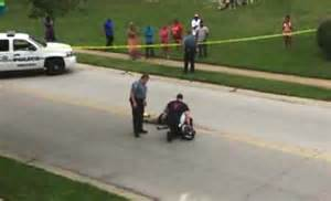 The body of michael brown after he was shot in ferguson mo brown