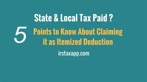 section 164 income tax act deduction for state local income tax while filing
