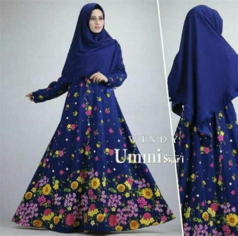 Polky Set Maxi Setelan Muslim Wanita Setelan Outer Polkadot Longvest setelan gamis cantik motif bunga grosir baju gamis syari