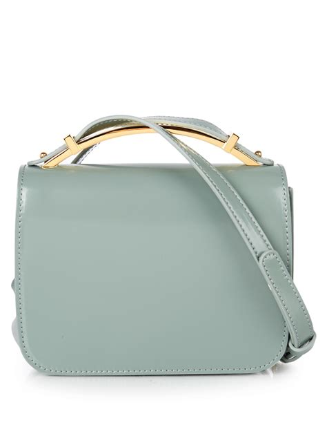 Marni Tinsel Leather Handbag by Marni Sculpture Leather Cross Bag In Blue Lyst