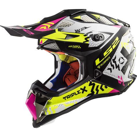 ls2 motocross helmets ls2 mx470 subverter triplex motocross helmet bike crash