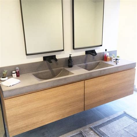 concrete bathroom vanity top polished concrete vanity top with integrated sink by