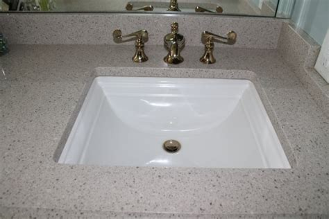 quartz bathroom vanity countertop custom sink