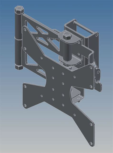 Swing Arm Wall Mounted L by Kebloc Products Swing Arm Wall Mount W White Kebloc Lw