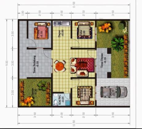 layout rumah 3 kamar tidur denah rumah minimalis 3 kamar tidur type 36 desain rumah