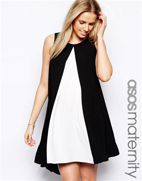 maternity swing dress asos asos maternity swing dress with contrast front and