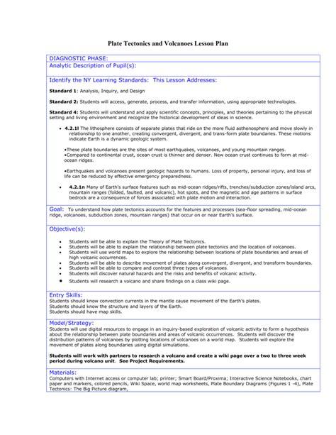 Volcanoes And Plate Tectonics Worksheet