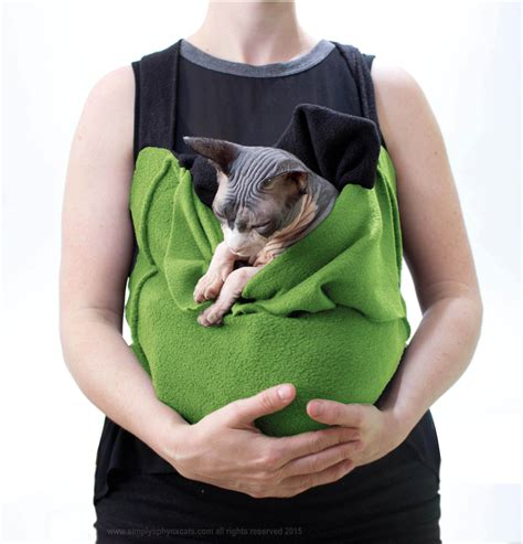 Sling Cat the green sale pet carrier soft pet tote or cat sling