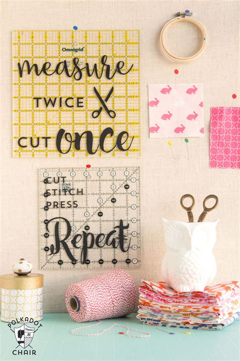 diy decorations sewing diy sewing room decor ideas and free cricut cut files the polka dot chair