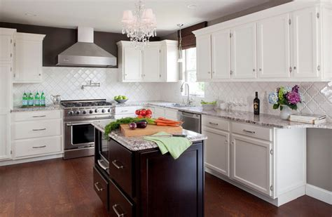 white stained kitchen cabinets white kitchen stained island with bianco antico granite