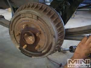 chevy s10 rear disc brake conversion bye bye to dumb