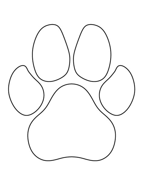 printable stencils of dogs dog paw print pattern use the printable outline for