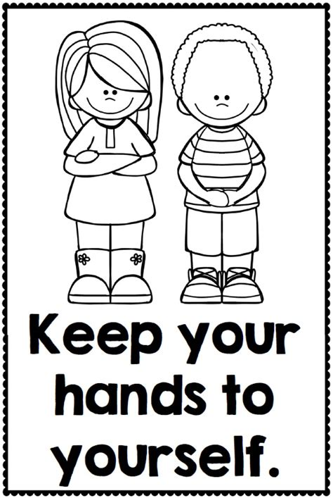 preschool rules coloring pages classroom manners and expectations posters http