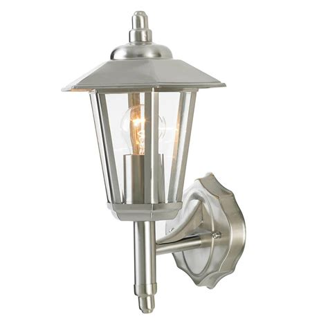 Ribble Outdoor Hexagonal Wall Lantern   Stainless Steel