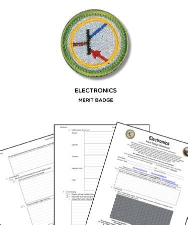 electronics merit badge worksheet requirements