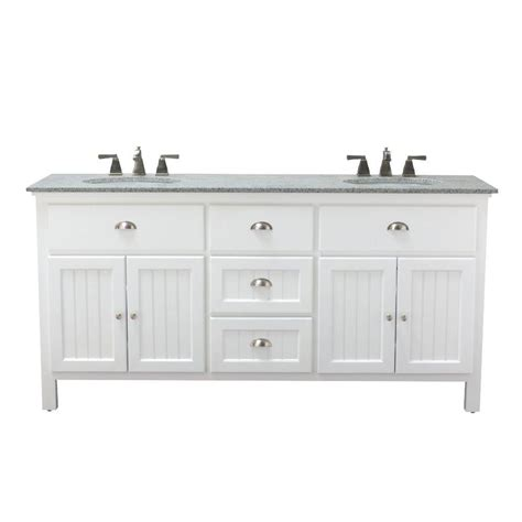 Home Depot Bathroom Vanity Home Decorators Collection Ridgemore 71 In W X 22 In D Bath Vanity In White With