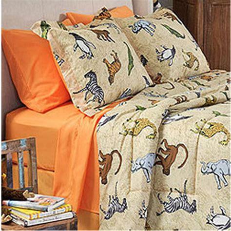animal bedding new 6pc zoo animals elephant bed n bag twin bedding set