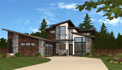 modern ridge house plan shop custom house plans here